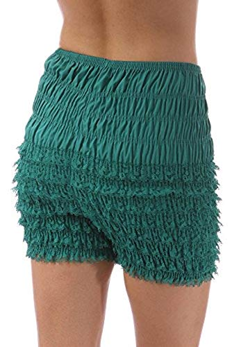 Malco Modes Womens Ruffle Panties Bloomers Dance Bloomers, Sissy Steampunk (Jade, X-Small)