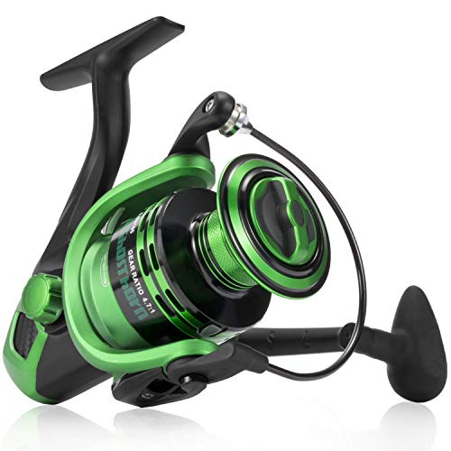(Ghosthorn Spinning Fishing Reel - Carbon Fiber Drag Washers 41.3 Lb Max Drag - Ultra Smooth Powerful Spinning Fishing Reel Stainless Steel BB Freshwater Saltwater)