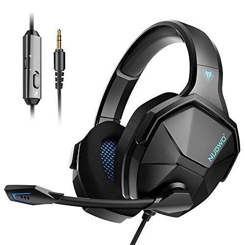 Jeecoo Nubwo N13 Stereo Gaming Headset PS4 3.5mm Over Ear Gaming Headphones with Microphone - Lightweight Frame Compatible with PC, Laptop, PS5, Xbox One Controller