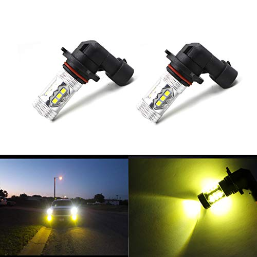 9006 HB4 Fog Light Bulbs LED HB4 Extremely Bright 16 SMD 3030 Gold Yellow Spot Light Bulbs Lamps (Pack of 2) (2007 Jeep Grand Cherokee Fog Light Installation)