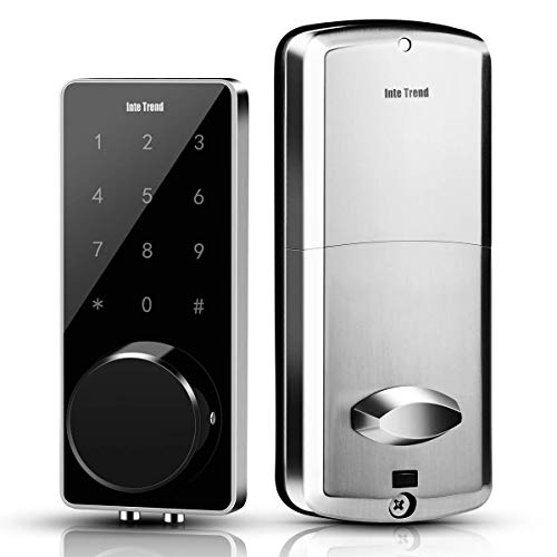 [Newest] Smart Lock, InteTrend Bluetooth Enabled Electronic Deadbolt with Touchscreen - Keyless Entry Door Lock with Auto-Lock Function for Home/Hotel/Apartment