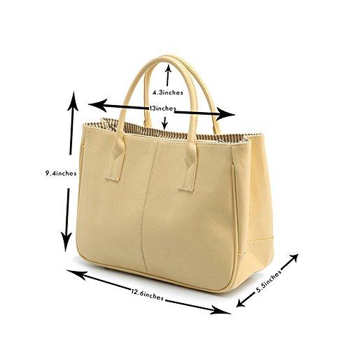 Black Ladise Women handle Homeda Top Satchel Bags Handbag Purse Tote YzdqBadx
