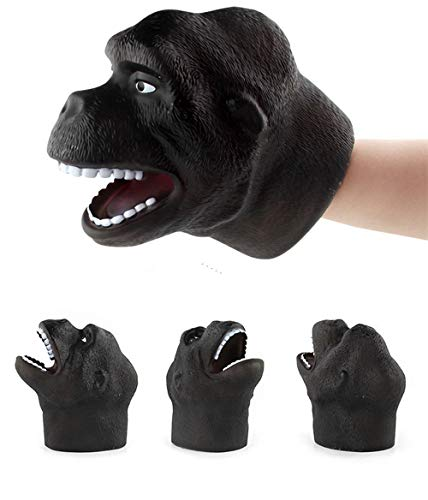 Digood Realistic Animals Hand Puppets Gloves, Soft Rubber Toys for Kids & Adults | Perfect for Storytelling, Teaching, Preschool & Role-Play (Orangutan)