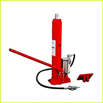 Air Hydraulic Ram Jack Manual 2 in1 8 Ton Capacity Heavy Duty Construction Pump Engine Lift Hoist Picker Cherry for Trucks Lawnmowers Farm Vehicles - House Deals