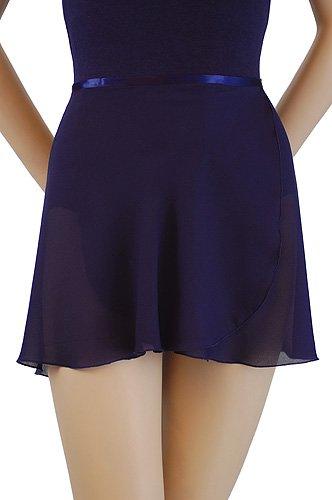 Trienawear Women's 14 Inch Georgette Wrap Dance Skirt TR300S with Ribbon Waist Tie