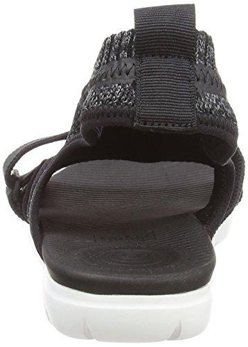 Fitflop Kvinder Uberknit Back-rem Sandaler Strappy Sandaler, Sort Multifarvet (sort / Blød Grå 546)