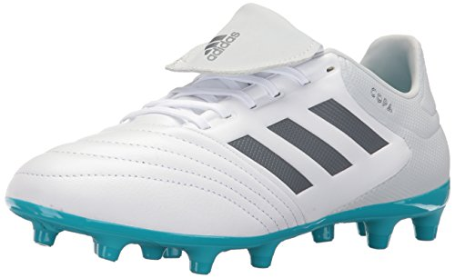 adidas Men's Copa 17.3 Firm Ground Cleats Soccer Shoe, White/Onix/Clear Grey, (10.5 M US)