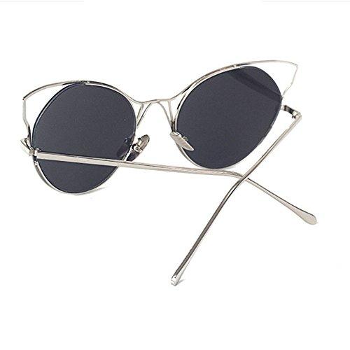 Aoligei Lunettes de soleil de personne du marée d'oeil de chat d'Europe et d'Amérique femelles lunettes étoiles D6cSUgDOJ