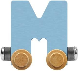 product image for Maple Landmark NameTrain Pastel Letter Car M - Made in USA (Blue)