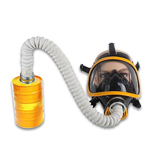 (Zinnor Full Face Gas Mask Organic Vapor Respirator w/Activated Carbon Respirator, Anti-hydrogen, Phosgene, Chloropicrin, Poison gas, Lewis, Meson)