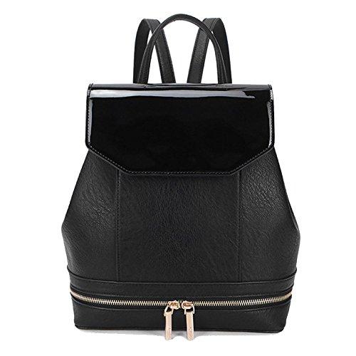 ZLLNSXKB Bolsos De Mujer Mochilas Elegantes Cómodas Y Casuales Black