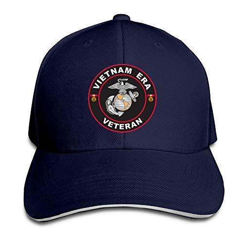 Vintage Hat Era (Jcaic Rinaa U.S. Marine Corps Vietnam Era Veteran Adjustable Baseball Caps Vintage Sandwich Cap)