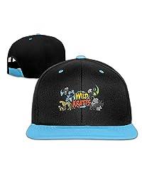 Edward Beck Child Hip Hop Baseball Cap Wild Kratts Logo Fashion Classic Style Red
