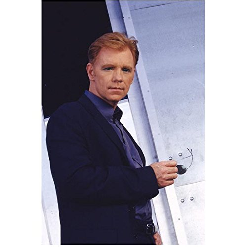 CSI: Miami 8inch x 10inch Photo David Caruso Sunglasses in Right Hand Navy Suit Blue Shirt ()