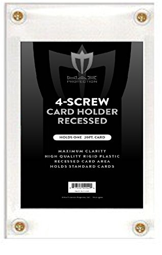 Box of 25 Max Pro Recessed 4-Screw Ultra Clear Trading Card Holders