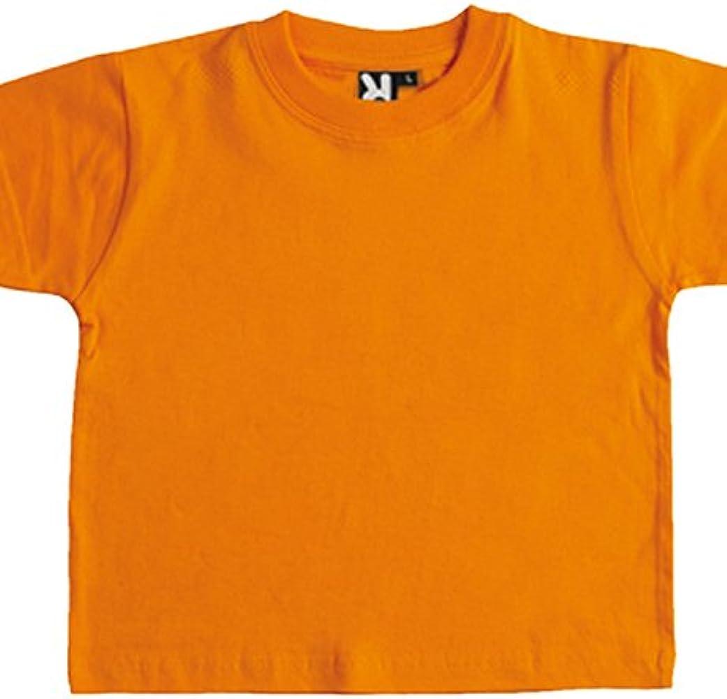 Camiseta de manga corta especial para bebe -ROLY (6 MESES, NARANJA ...