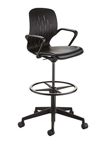 (Safco Products 7014BL Shell Chair, Extended Height, Black)
