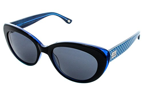 Lulu Guinness Women's Sunglasses L103 Black Blues Size - Sunglasses Lulus