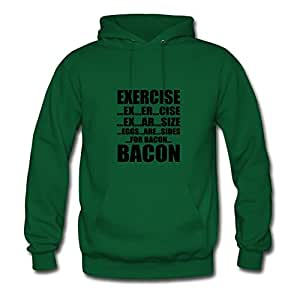 Unofficial Stylish Exercise Cotton Hoody X-large Women Green