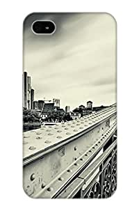 Hard Plastic Iphone 4/4s Case Back Cover, Hot Iron Bridge Case For Christmas's Perfect Gift