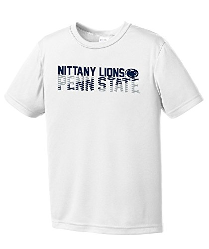 NCAA Penn State Nittany Lions Youth Boys Diagonal Short sleeve Polyester Competitor T-Shirt, Youth Small,White ()