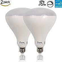 Enegitech 2 Pack BR40 LED Bulb,17W (100 Watt Equivalent),1400 Lumens,3000k(Soft White),Wide Flood Light,Dimmable,110°Beam Angle, Medium Base (E26),UL and ENERGY STAR