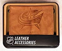 Columbus Blue Jackets Embossed Trifold Leather Wallet