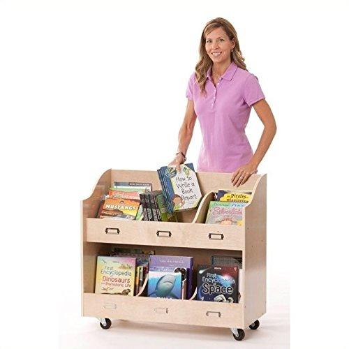 Guidecraft Wood Shelf - Guidecraft Mobile Book Organizer Set
