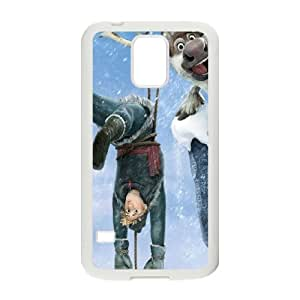 Christmas Frozen Samsung Galaxy S5 Cell Phone Case White phone component AU_571308