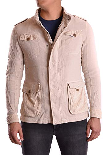 Armani Collezioni Men's Mcbi23594 Beige Viscose Jacket