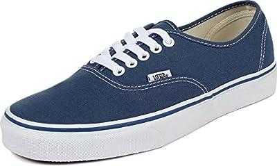 Vans Mens Authentic Core Classic Sneakers (9 B(M) US Women / 7.5 D(M) US Men, Navy)