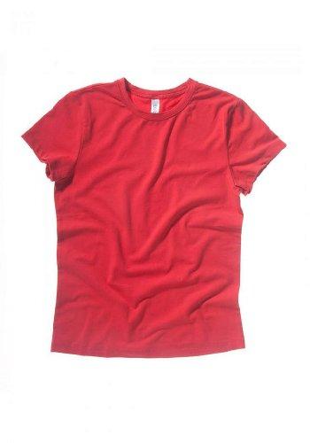 Bella Ladies Cotton Short Sleeve Crewneck T-Shirt - RED - X-Large
