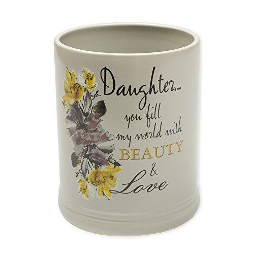 Elanze Designs Daughter Beauty & Love Ceramic Stoneware Electric Large Jar Candle Warmer ()