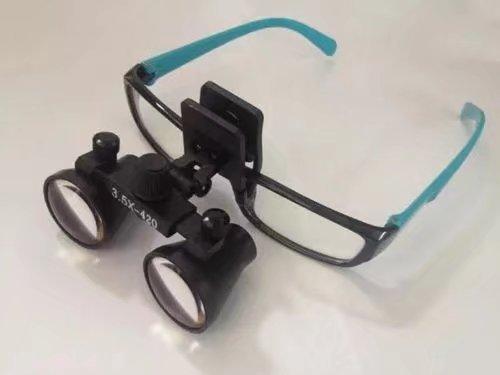 Ocean Aquarius 3.5x-(280-380mm) Working Distance Surgical Medical Binocular Clip Loupes Use For Ordinary Glasses