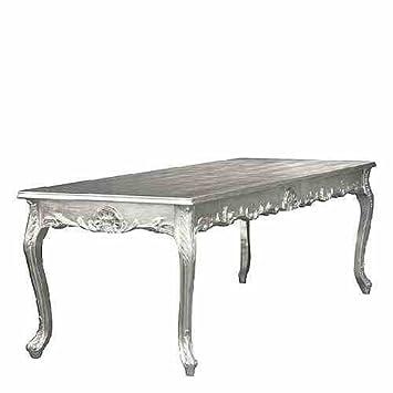 Casa Padrino Barock Esstisch Silber 160cm Esszimmer Tisch Möbel