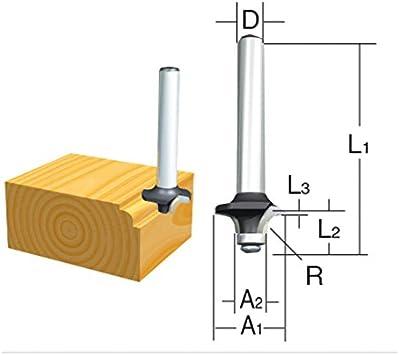 Makita D-09547 - Fresa para madera molduras con rodamiento pinza (c) 6 mm (a) 26 mm (b) 12 mm (r) 7 mm: Amazon.es: Bricolaje y herramientas