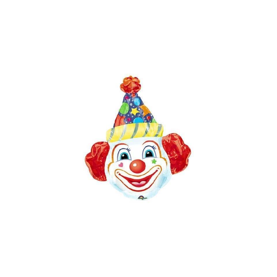 Crazy Clown Head Super Shape Balloon