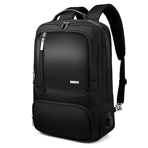 Men's 15'' inch Laptop Business Backpacks College Student Water-Resistant Microfiber Leather Backpack for Men (Model4)
