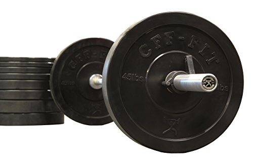 CFF Rubber Bumper Plates - 260 lb Set by CFF