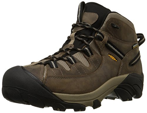 KEEN Men's Targhee II Mid Waterproof Hiking Boot,Shitake/Brindle,10.5 M US