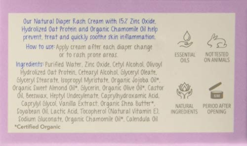 The Moms Co. Baby's Diaper Rash Cream with Zinc Oxide, Chamomile and Jojoba Oils with Oat Protein (25 g)