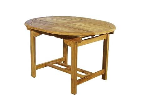Divero Tisch Gartentisch Holz Teak Holztisch 120 170 Cm Massiv