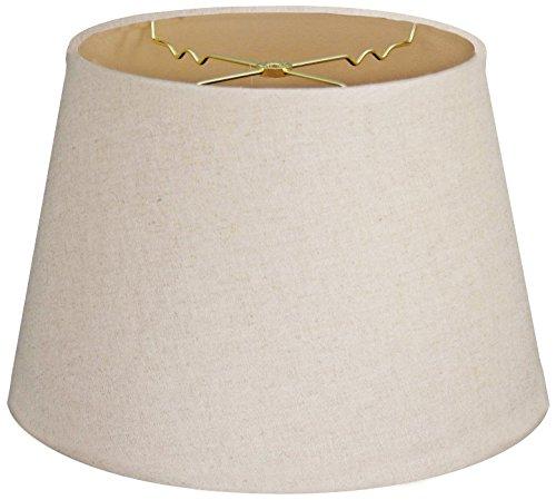 d Shallow Drum Hardback Lamp Shade, Linen Cream, 13 x 18 x 12 (Cream Hardback Shade)
