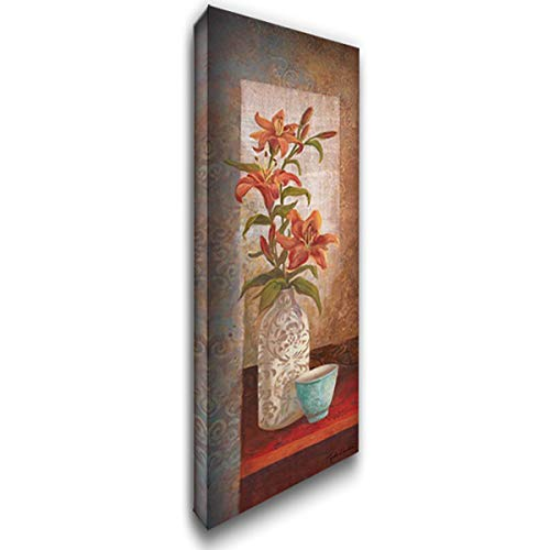 Spiced Jewels - Spiced Jewels I 27x80 Huge Gallery Wrapped Stretched Canvas Art by Wacaster, Linda