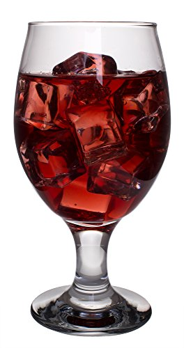 Belluno Classic Clear Glasses for Water, Juice, Liquor - Wine Goblets - Set of 4 (13.5 Ounces) -