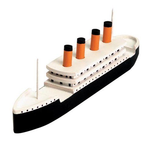 Darice Wood Model Kit, Titanic (1 Kit) - Contains Precut Wood and Instructions for 7.25