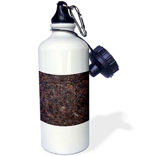 Mahogany Dakota Granite (3dRose ToryAnne Collections Granite - Dakota Mahogany granite print - 21 oz Sports Water Bottle (wb_97945_1))