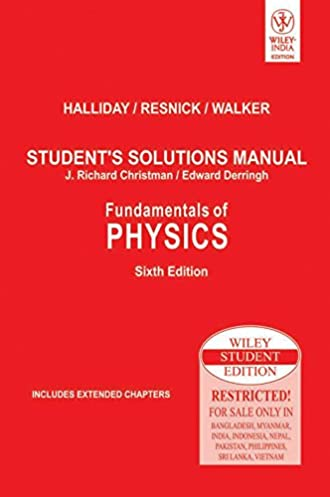 buy fundamentals of physics student s solutions manual book online rh amazon in student solution manual for fundamentals of physics 6th edition student solutions manual for fundamentals of physics pdf