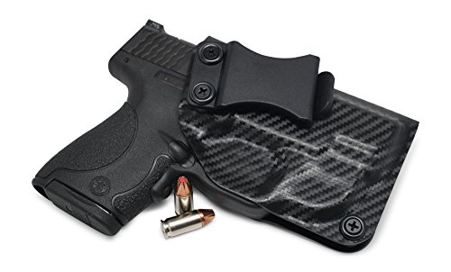 Concealment Express IWB KYDEX Holster: fits S&W M&P Shield 9/40 w/Green Crimson Trace LASERGUARD ONLY (LG-489G) - Cstm Fit - US Made - IWB - Adj. Cant/Retention (CF BLK, Right)