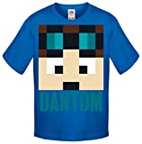 One Stop Kids Dan TDM Or Stampy Cat Short Sleeve T-Shirt Boys Girls Unisex Top (5-6 Years, DanTDM Blue)